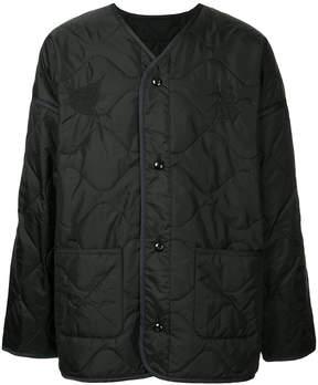 Monkey Time quilted V-neck coat