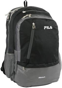 Fila Black Dual Tablet/Laptop Backpack