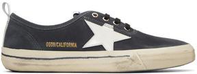 Golden Goose Deluxe Brand Black Suede California Sneakers