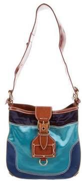 Marc Jacobs Satin Shoulder Bag - BLUE - STYLE