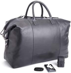 Royce Leather Royce Expandable Duffle Bag Luxury Travel Set - Black