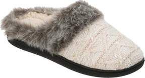 Dearfoams Textured Knit Clog Slipper with Pile Cuff (Women's)