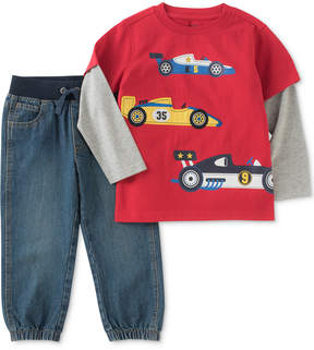 Kids Headquarters 2-Pc. Race Car Shirt & Pants Set, Little Boys (4-7)