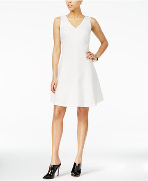Armani Exchange Textured Fit & Flare Dress