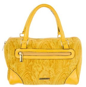 Etro Printed Suede Handle Bag