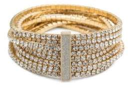 ABS by Allen Schwartz Smoke and Mirrors Stretch Crystal Bracelet