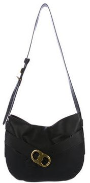 Tory Burch Gemini Leather Belted Hobo - BLACK - STYLE