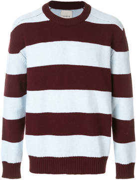 Laneus striped knit jumper