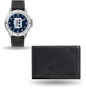 Rico MLB Team Logo Watch and Wallet Combo Gift Set in Black - Tigers