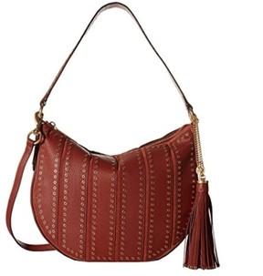 MICHAEL Michael Kors Suede Medium Convertible Brick Hobo Handbag - ONE COLOR - STYLE