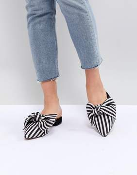 Lightening Pointed Bow Ballet Flats