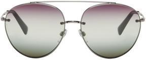 Valentino Silver Glamtech Ruth Sunglasses