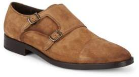 Bruno Magli Cantor Double Monk-Strap Suede Loafers