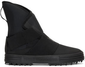 Y-3 Black New Snow Foxing Strap High-Top Sneakers
