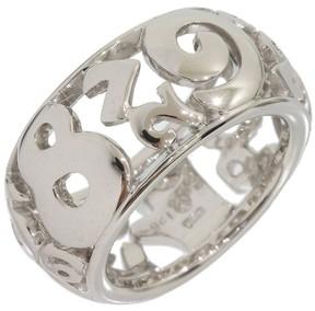 Franck Muller Frank Mullar 18K White Gold Talisman Band Ring Size 6
