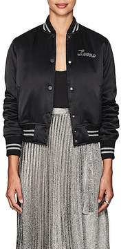Amiri Women's thedrop@barneys: Lovers Silk Satin Bomber Jacket