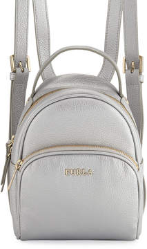 Furla Frida Mini Metallic Vitello Leather Backpack