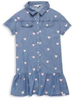 Little Marc Jacobs Toddler's, Little Girl's& Girl's Chambray Heart Embroidered Dress