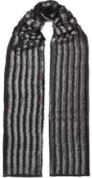 Chloé Metallic Fil Coupé Silk-blend Scarf - Black