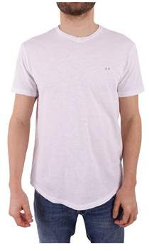 Sun 68 Men's White Cotton T-shirt.