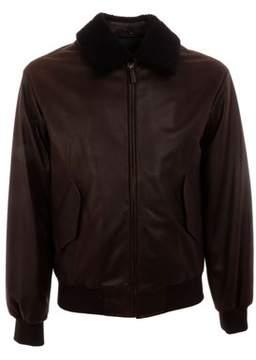 Gant Men's Brown Leather Outerwear Jacket.