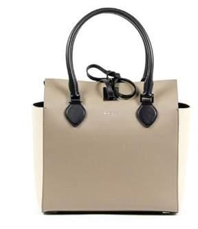 Michael Kors Ladies Miranda Medium Leather Tote Handbag. - BEIGE - STYLE