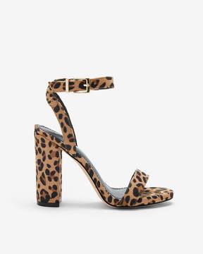 Express Leopard Thick Heeled Sandals