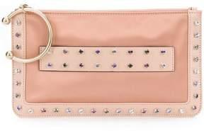 RED Valentino RED(V) crystal embellished clutch bag