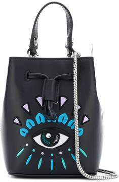 Kenzo Mini Bucket With Logo And Chain Shoulder