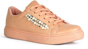 Refresh Mauve Embellished Pearl Sneaker