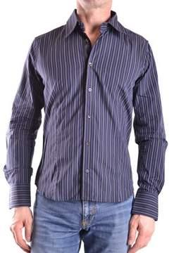 Gazzarrini Men's Blue/grey Cotton Shirt.