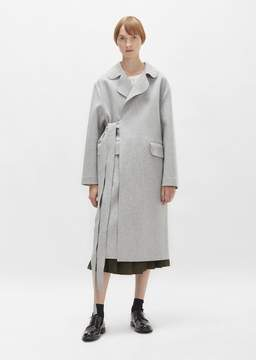 Sara Lanzi Belted Wool Overcoat Grey