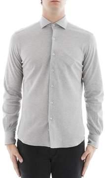 Orian Men's Grey Cotton Shirt.