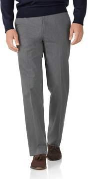 Charles Tyrwhitt Light Grey Classic Fit Stretch Cavalry Twill Pants Size W34 L32