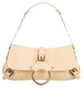 Dolce & Gabbana Embellished Snakeskin Handle Bag - NEUTRALS - STYLE