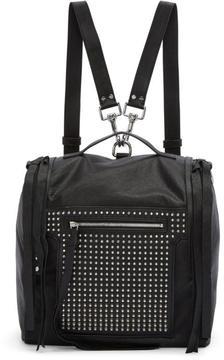 McQ Black Convertible Studded Box Backpack