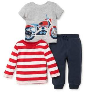 Little Me Baby Boy's Motorcycle Three-Piece Set