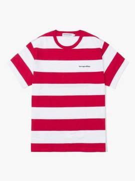 Have A Good Time Stripe S S Tee Red