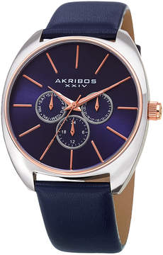 Akribos XXIV Sunray Purple Dial Multifunction Watch, 43mm