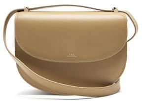 A.P.C. Geneve Leather Cross Body Bag - Womens - Khaki