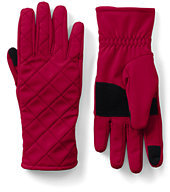 Lands' End Women's Softshell EZ Touch Gloves-Light Hyacinth