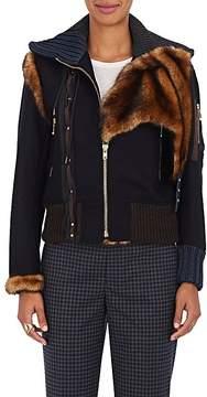Kolor Women's Faux-Fur-Trimmed Wool-Blend Jacket