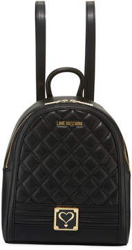 Love Moschino Quilted Faux-Napa Backpack Bag