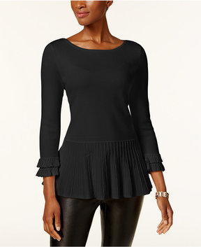Charter Club Peplum-Hem Sweater, Created for Macy's