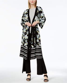 Bar III Mixed-Print Printed Kimono, Created for Macy's