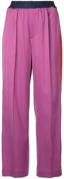 ASTRAET side stripe wide trousers
