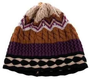 Missoni Wool Knit Patterned Beanie