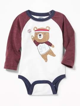 Old Navy Graphic Raglan Bodysuit for Baby