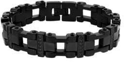 Lord & Taylor Black Cubic Zirconia Link Bracelet