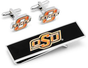 Ice Oklahoma State Cowboys Cufflinks and Money Clip Gift Set